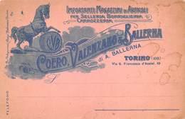 """08272 """"TORINO-COERO, VALENZANO & BALLERNA - MAGAZZINI DI ARTICOLI PER SELLERIA-CARROZZERIA"""" CART NON SPED - Italy"""