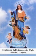 Stilo (Reggio Calabria) - Santino MADONNA DELL'ASSUNTA IN CIELO - PERFETTO P68 - Religione & Esoterismo