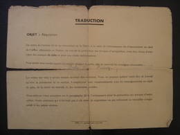 Vieux Papiers Militaria WWII WW2 Soldat Army FELDKOMMANDANTUR TRAVAIL OBLIGATOIRE - Documents