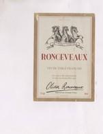 ETIQUETTE De  VIN RONCEVEAUX - Bordeaux