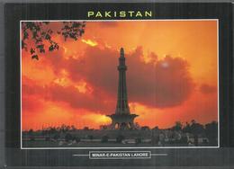 PAKISTAN POSTCARD, VIEW CARD MINAR E PAKISTAN LAHORE - Pakistan