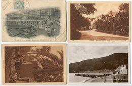 4 Cartes ALGÉRIE * Alger Boulevard République Nouveau Palais D'été * Village Arabe * Philippeville Vue De Stora - Algeria