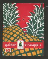 # PINEAPPLE NINO FRUIT GOLDEN 5 (Orange In Colour) Fruit Tag Balise Etiqueta Anhanger Ananas Pina - Fruits & Vegetables