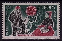 EUR 15 - ANDORRE N° 254 Neuf** Travail De La Laine - Europa-CEPT