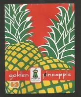 # PINEAPPLE NINO FRUIT GOLDEN 5 (Yellow In Colour) Fruit Tag Balise Etiqueta Anhanger Ananas Pina - Fruits & Vegetables