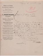 16-L.Marchand Scierie,Raboterie,Bois Du Nord....  Cognac (Charente) 1885 - Old Professions