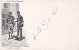 Ville De Gand Brigadier De Police Circulée En 1901 - Gent