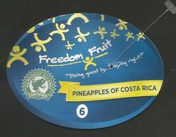 # PINEAPPLE FREEDOM FRUIT Size 6 (Type 2) Fruit Tag Balise Etiqueta Anhanger Ananas Pina Costa Rica - Fruits & Vegetables