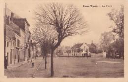 Basse-Wavre La Place Circulée En 1945 - Wavre
