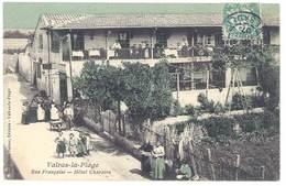 Cpa Valras La Plage - Rue Française - Hôtel Charaire - France