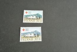 K11619-  Set   MNh Iceland - Island - 1963- SC. B17-18-  YV. 330-331- Centenary Red Cross- - Croix-Rouge