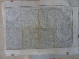 Carte Topographique Lisieux Type 1889 Septembre 1943 14 Calvados - Topographical Maps