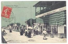 Cpa Valras La Plage - Sortie De La Gare Et Le Casino - France