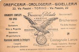"08278 ""TORINO - OREFICERIA-OROLOGERIA-GIOIELLERIA - TOSCANO PIDALE"" CART GARANZIA - Negozi"