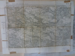 Carte Topographique Melun Type 1889 Juillet 1945 77 Seine Et Marne - Topographical Maps