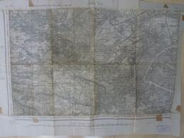 Carte Topographique Paris S O Type 1889 Avril 1946 - Topographical Maps