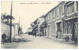 Cpa Valras La Plage - La Rue Française - France