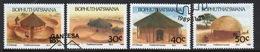 Bophuthatswana Set Of Stamps Celebrating Traditional Houses From 1989. - Bophuthatswana