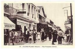 Cpa Valras La Plage - Rue Française  ( Centre ) - France