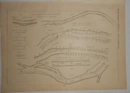 Plan Des Systèmes Employés En  Allemagne Pour La Régularisation Des Fleuves. 1891. - Public Works