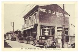 Cpa Valras La Plage - Hôtel De La Méditerranée ( Automobiles ) - France