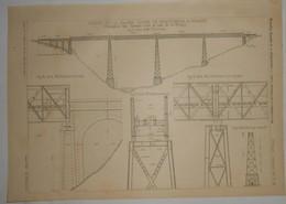 Plan Du Viaduc De La Siagne. Ligne De Draguignan à Grasse. 1891. - Travaux Publics