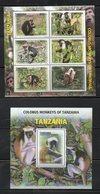 TANZANIA,2012, COLOBUS MONKEYS, M/S+S/S, MNH** - Mono