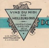 Facture 1947 / MAURIN JULLIEN / Domaine De La Vermeillade / Vins Du Midi / 30 Congénies Gard - Other
