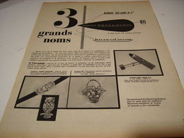 ANCIENNE AFFICHE  PUBLICITE JOAILLERIE PALLADIUM 1953 - Bijoux & Horlogerie