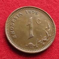 Rhodesia 1 Cent 1975 KM# 10 Rodesia Rhodesie - Rhodésie