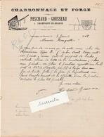 Facture 1908 / PESCHARD GOUSSEAU / Forge Charronnage / 41 Champigny En Beauce / Loir Et Cher - Other