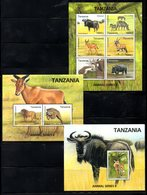TANZANIA,2017, ANIMALS SERIES II, 2M/S+S/S, MNH** - Timbres