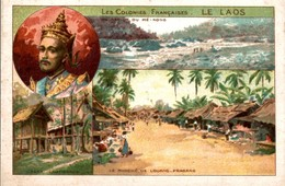 CHROMO  LES COLONIES FRANCAISES  LE LAOS - Trade Cards