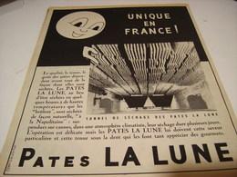 ANCIENNE PUBLICITE PATE ALIMENTAIRE LA  LUNE UNIQUE EN FRANCE 1953 - Posters