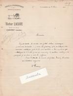 Facture 1919 / Victor LACAVE / Forge Charronnage / Route De Créon / 40 Gabarret Landes - Other