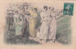 CPA Quatre Femmes Mode Chapeau Fraü Donna Viennoise Vienne M.M. Vienne N° 257 Illustrateur M. MUNK (2 Scans) - Femmes