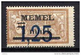 MEMEL - N° 43** - TYPE MERSON - Unused Stamps