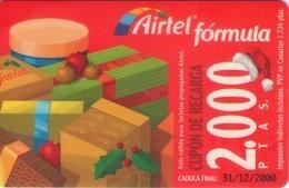 TARJETA TELEFONICA DE ESPAÑA, (PREPAGO) 207. NAVIDAD. - Airtel