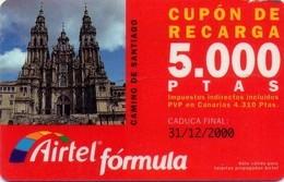 TARJETA TELEFONICA DE ESPAÑA, (PREPAGO) 178. CAMINO DE SANTIAGO.. - Airtel