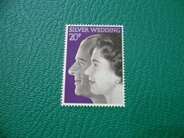 FRANCOBOLLO STAMPS SILVER WEDDING 20 P - 1952-.... (Elisabetta II)