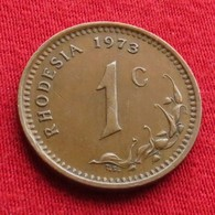 Rhodesia 1 Cent 1973 KM# 10 *V2 Rodesia Rhodesie - Rhodésie