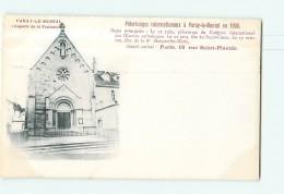PARAY Le MONIAL - Pélerinages Internationaux En 1900 : Chapelle De La Visitation - Dos Simple - 2 Scans - Paray Le Monial