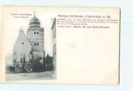 PARAY Le MONIAL - Pélerinages Internationaux En 1900 : Tour Saint Nicolas - Dos Simple - 2 Scans - Paray Le Monial