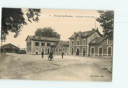 PARAY Le MONIAL - Gare Extérieure - Animée - 2 Scans - Paray Le Monial