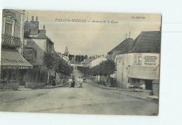 PARAY Le MONIAL - Avenue De La Gare - Boulangerie Nugues - Animée - 2 Scans - Paray Le Monial