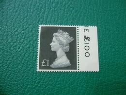 FRANCOBOLLO STAMPS SIELIZABETH II 1£ SENZA FOSFORO - 1952-.... (Elisabetta II)