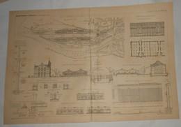 Plan De L'aménagement Et Outlllage Du Nouveau Port De Brème. Allemagne. 1891. - Travaux Publics