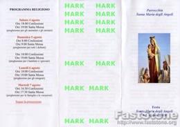 Guardavalle Marina (Catanzaro) - Santino Grande Depliant SANTA MARIA DEGLI ANGELI - PERFETTO P68 - Religione & Esoterismo