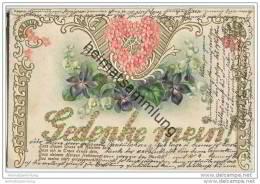 Blumen - Maiglöckchen - Veilchen - Gedenke Mein - Prägedruck - Flores, Plantas & Arboles