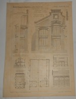 Plan De L'Imprimerie Guillaume, Boulevard Brune à Paris. M. John Monod, Architecte.1891. - Public Works